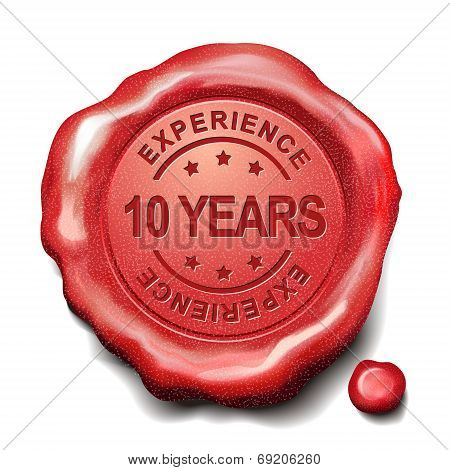 10 Years Red Wax Seal