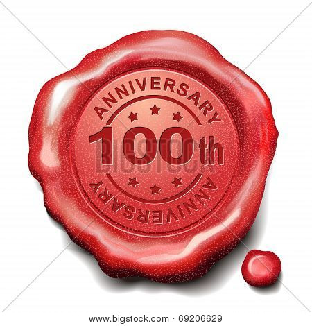 100Th Red Wax Seal