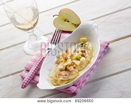 escalope with apple onions and sage