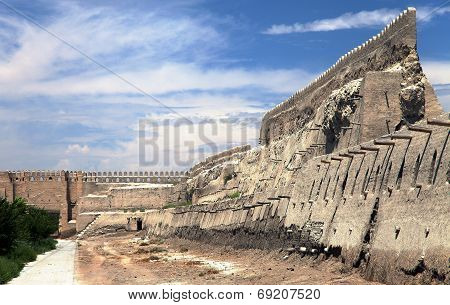 Old Town Walls With Beautiful Sky - Bukhara - Uzbekistan