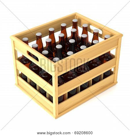 Bottles In Wooden Crate