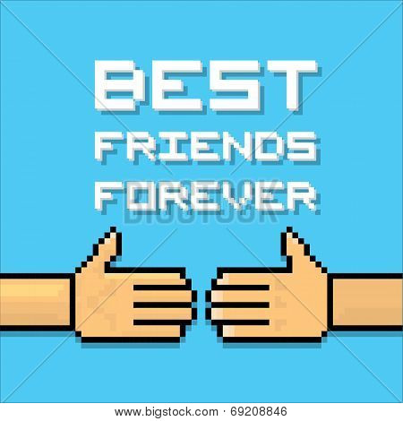 Happy Friendship day background with handshake