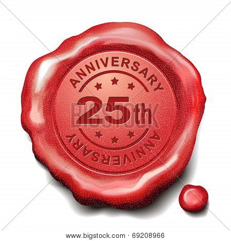 25Th Anniversary Red Wax Seal
