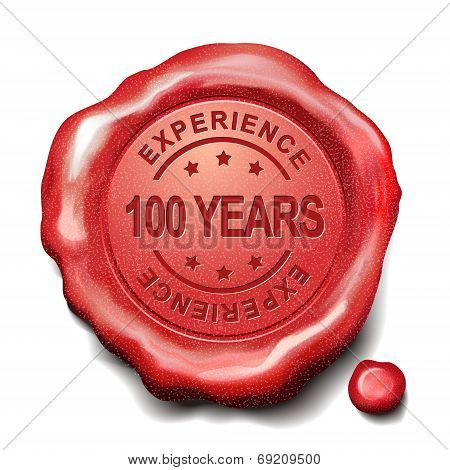 100 Years Red Wax Seal