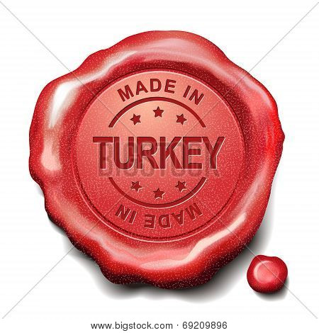 Made In Turkey Red Wax Seal
