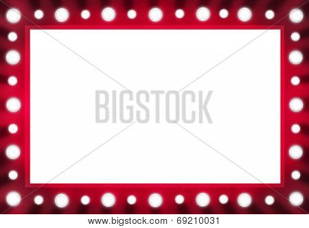 Red Back stage Light Mirror