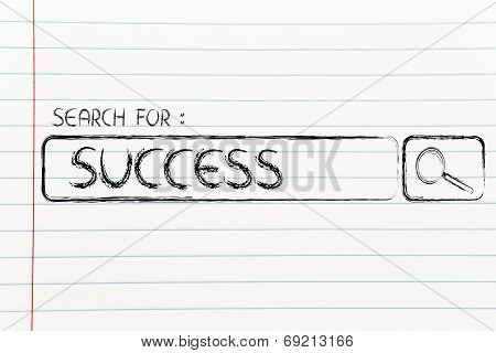 Search Engine Bar, Search For Success
