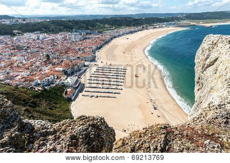 View Of The Beach, Nazare (portugal)