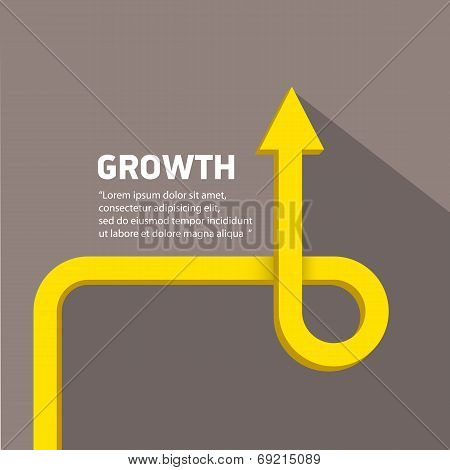 vector flat Business graph and chart on grey