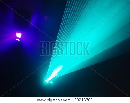 Light Show In Disco