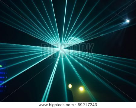 Abstract Image Of Disco Lights