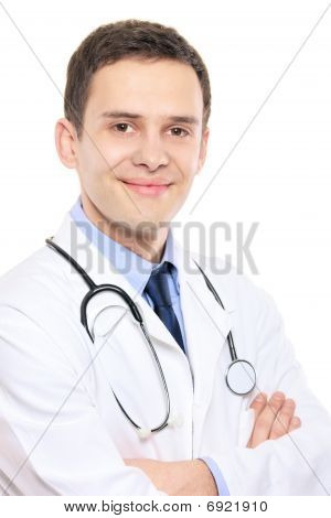 A portrait of a medical doctor