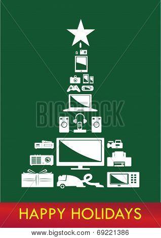Electronics Christmas tree concept