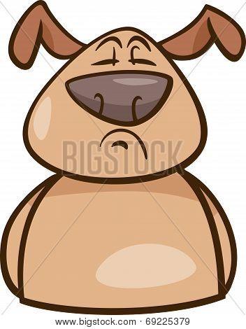 Mood Proud Dog Cartoon Illustration