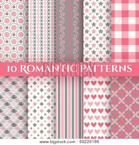 Romantic vector patterns