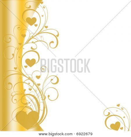 Golden Hearts with border On Left