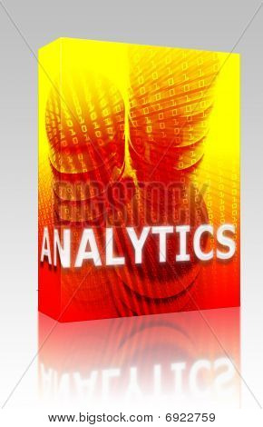 Data Analytics Illustration Box Package