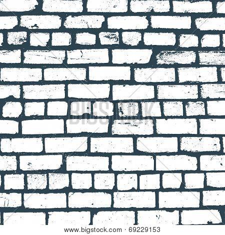 Simple vector background of old brickwork design
