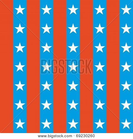 Seamless Stars and Stripes