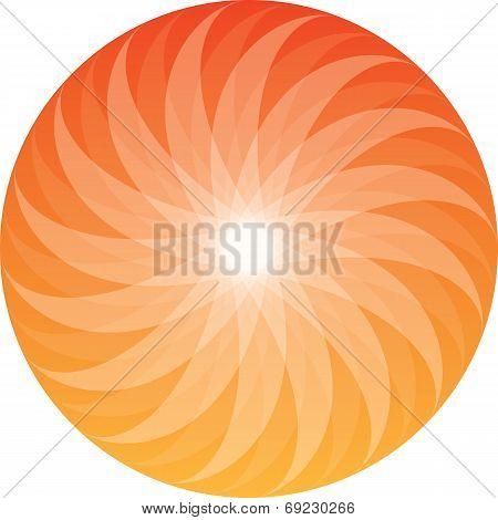 Sunburst Circular Vector Ornament