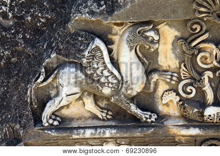 Griffin Sculptures, Winged Mythical Creature