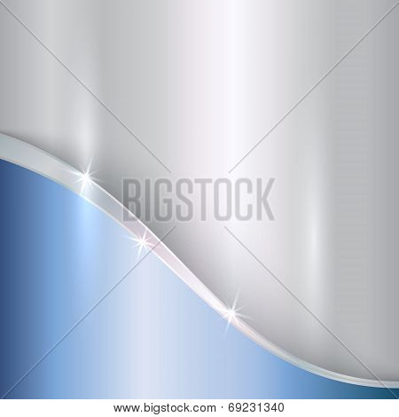 Vector abstract precious metallic background with curves