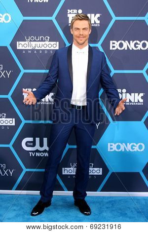 LOS ANGELES - JUL 27:  Derek Hough at the 2014 Young Hollywood Awards  at the Wiltern Theater on July 27, 2014 in Los Angeles, CA