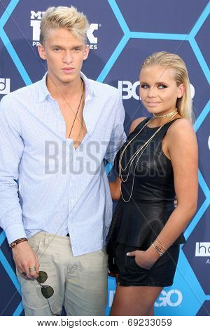 LOS ANGELES - JUL 27:  Cody Simpson, Alli Simpson at the 2014 Young Hollywood Awards  at the Wiltern Theater on July 27, 2014 in Los Angeles, CA