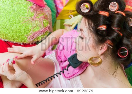 Girl With Pink Phone