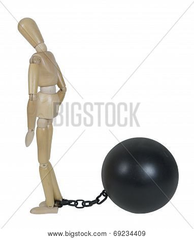 Captive By Ball And Chain