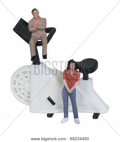 Exercise Bike With Motivators