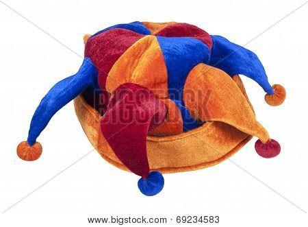 Joker Cap Of Red Blue And Orange