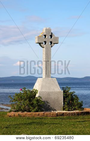 Celtic Cross By Ocean