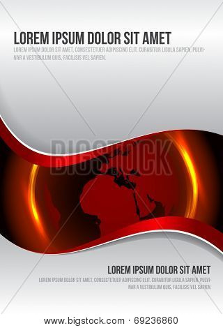 Vector modern background for brochure, poster or flyer with globe