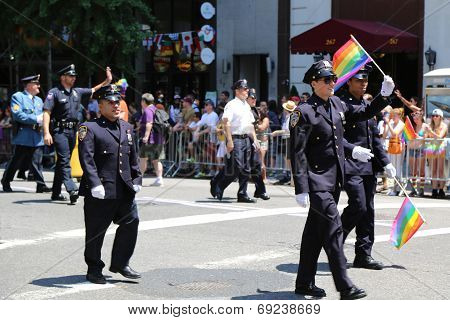 FDNY members at LGBT Pride Parade in New York City