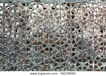 details lattice of the Blue Mosque