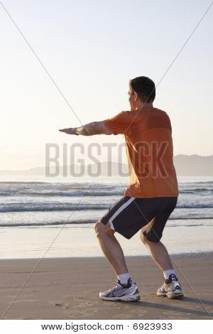 Jogger Doing Squats