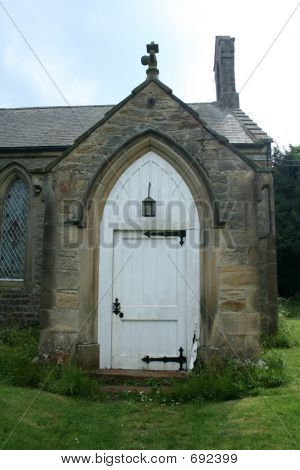 Old White Church Door