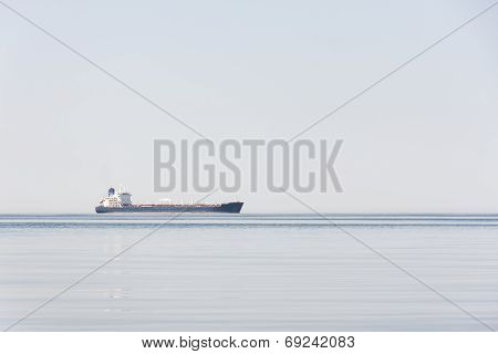 Tanker Or Freighter At Sea