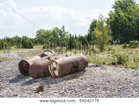 Old Rusty Marine Mines