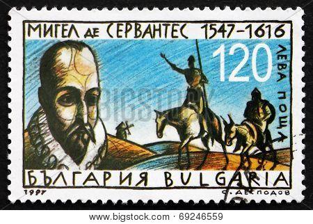 Postage Stamp Bulgaria 1997 Miguel De Cervantes