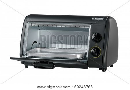opened small electric oven