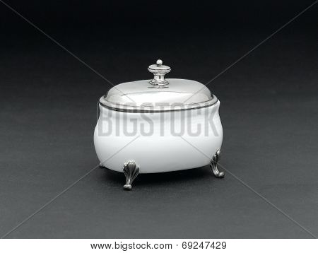 luxury porcelain sugar bowl