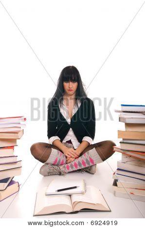Bored school girl