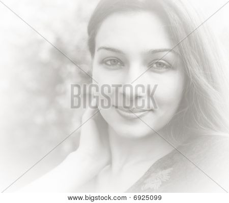 Artistic Bright Portrait Of Feminine Young Woman
