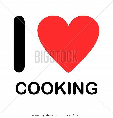 Font Type Illustration - I Love Coocking