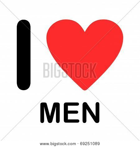 Font Type Illustration - I Love Men