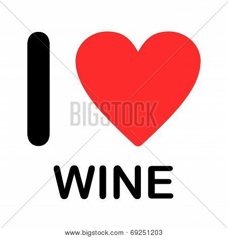Font Type Illustration - I Love Wine