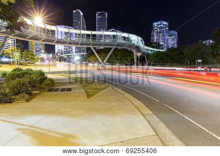 Gold Coast Night Traffic Trails