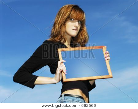 Girl With Frame